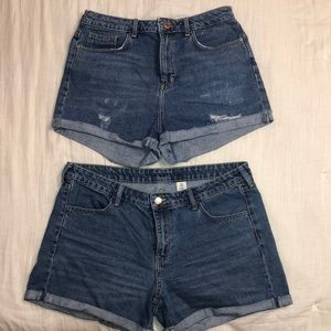 Two pairs of Jean shorts